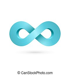Infinity loop symbol logo icon design template. Vector color...