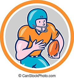 American Football Receiver Running Ball Circle Shield -...