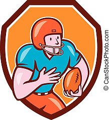 American Football Receiver Running Ball Shield -...