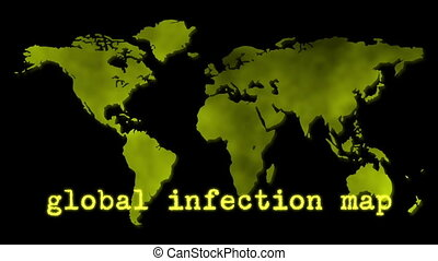 Yellow Global Infection Map Epidemi - An animation of the...