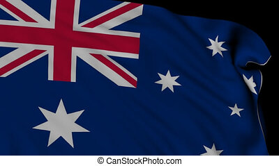 Flag of New Zealand - 3d Flag of New Zealand flying in the...