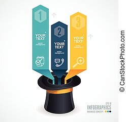 Modern infographics options banner 1 2 3