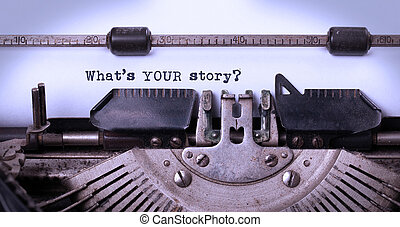 Vintage inscription made by old typewriter, whats your story...