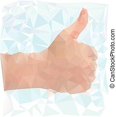 I like it sign - vector - Vector of thumbs up sign in...