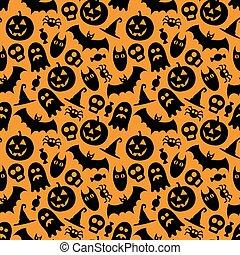 Halloween vector seamless pattern