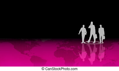 Teamwork in Business concept - Concept of people working in...