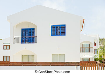 house on the island of Cyprus - with classical building in...