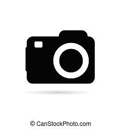 camera sign vector illustration