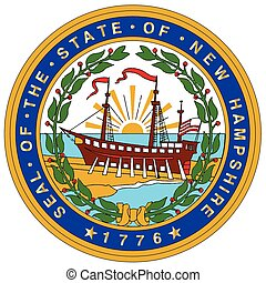 New Hampshire State Seal - The state seal of the US state of...