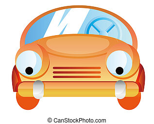 Cartoon car isolate in a white background