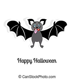 Halloween card - Happy halloween vector card with funny...