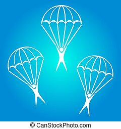 Parachute jumper icon - Vector parachute jumper icons on...