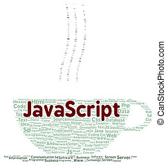 JavaScript word cloud shape concept