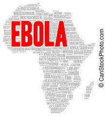 Ebola word cloud shape