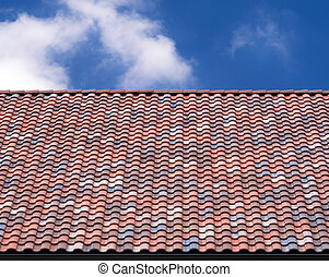 Multicolored roof tile background - Multicolored roof tile...