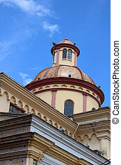 Church Dome in Otavalo - The dome on a Catholic church in...