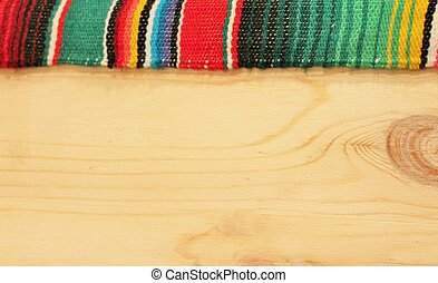 Mexico Fiesta background with wood - Mexico Fiesta poncho...