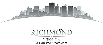 Richmond Virginia city silhouette white background -...