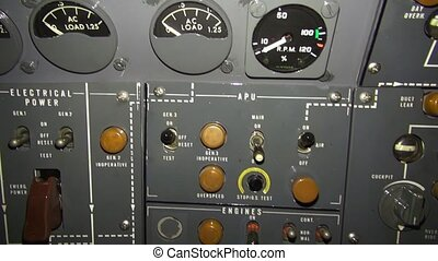 Aircraft Control Panel - Aircraft control panel footage