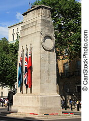 Cenotaph war memorial, Whitehall, - The Cenotaph in...