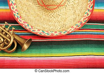 mexico fiesta background trumpet
