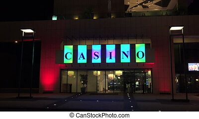 Casino at the Golden Sands resort. Varna. Bulgaria. Shot in...