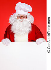 santa cook - Cook Santa Claus with white message board