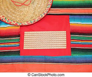 mexico fiesta background sombrero