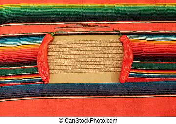 mexico fiesta background with chilli