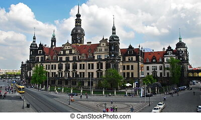 Dresden Residenzschloss - view to Residenzschloss in the...