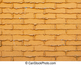 Yellow Brick Wall - Abstract background with yellow brick...