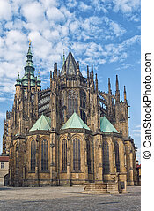 Prague Saint Vitus Cathedral - Rear view of Prague Saint...