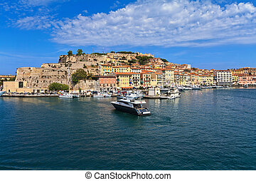 Portoferraio - Elba island - Portoferraio from the sea, Elba...