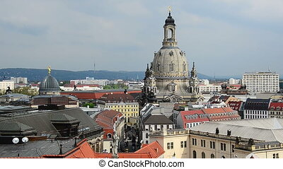 Dresden church of our Lady - view to church of our Lady -...
