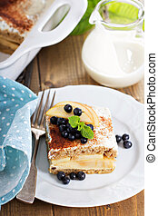 Appele wholewheat bread strata with cream cheese glaze