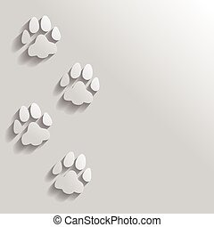 Cat trail paw icon - Vector illustrations of flat icon of...