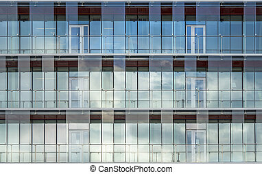 glass facade - Background with glass facade of modern office...