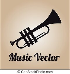 Music vector - Music Vector over color background