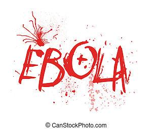 ebola, tipografia, Ilustração