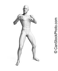 a white man - 3d rendered illustration of a white man