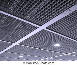 moderne, bureau, plafond, modèle