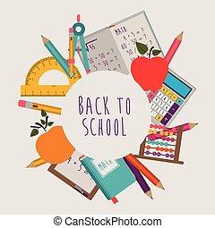 Education design over white background, vector illustration