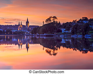 Truro Cornwall England Sunset - View up river at sunset from...