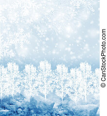 Background of snow. Winter landscape