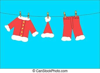 Santa claus washing