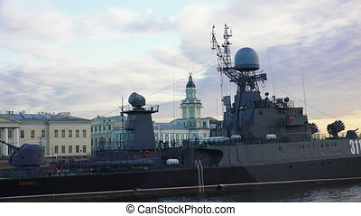 Russian military naval ship Shot in 4K ultra-high definition...