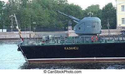 The gun battle warship.