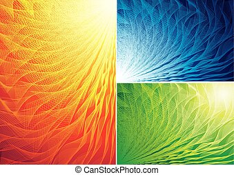 Abstract background - Three color abstract backgrounds Eps8...