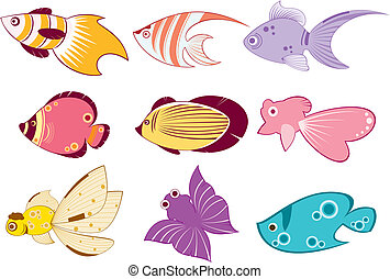 tropical fish - verious tropical fish pattern