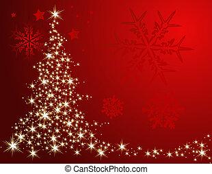 Christmas tree made of stars